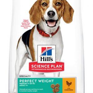 Hill's Science Plan Adult 1+ Perfect Weight Medium poulet (le sac de 12kg)
