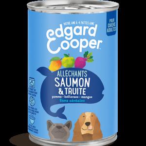 Saumon & Truite aux pommes, betteraves et mangues (boite de 400g)
